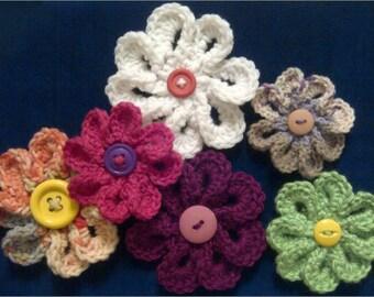 TBK 8 Petal Flower Crochet Pattern- PDF Tutorial