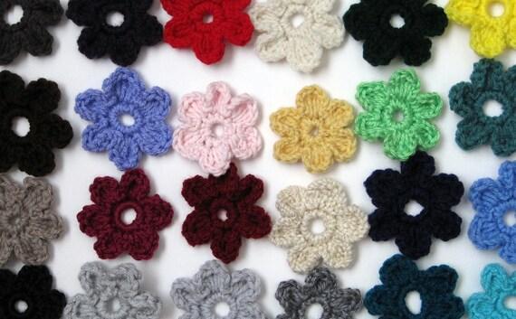 Easy Peasy Crochet Flower Pattern- Simple 6 Petal Flower- PDF Tutorial