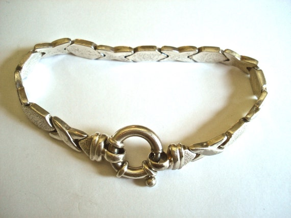 Sterling silver bracelet vintage jewelry chain Milor Italy