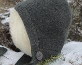 wool pilot hat for newborn baby