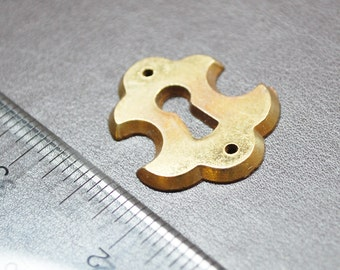 Antique Escutcheon Keyhole Keyplate Peephole Brass Steampunk Hardware