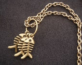 """Catch of the Day Fish Necklace Bronze 20"""""""