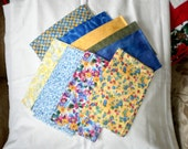Yellow and Blue Medley Fat Quarters