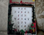Santa Alphabet Cross Stitch Charts Leaflet