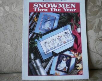 Snowmen Thru The Year Cross Stitch Book