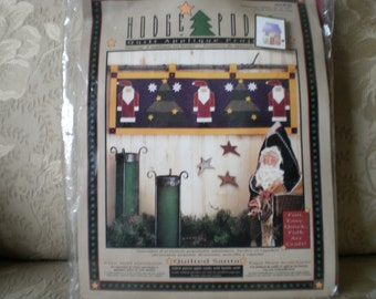 Felt Quilted Santa Panel Complete Kit