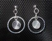 Hypoallergenic Silver Swirl Earrings