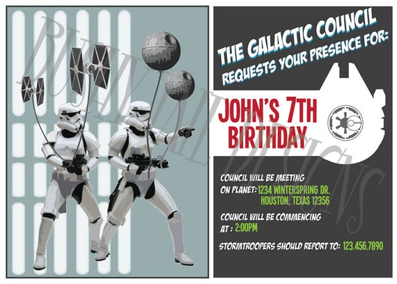 Preferenza Invito di compleanno di Star Wars NG52