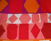 Vintage Mod Canvas/Duck Geometric Fabric 3 yards VFA-65