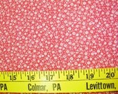 Red Gingham with Tiny White Flowers  1 yd  VFA-299