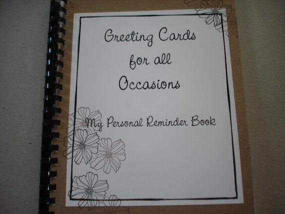 Greeting Card Organizer - Reminder Book