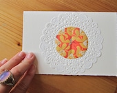 Single Doily Greeting Card