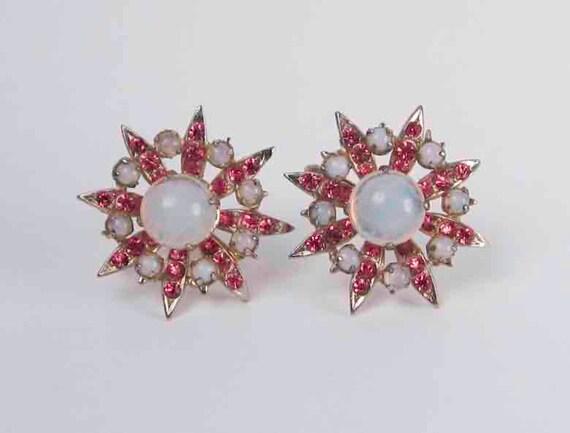 Coro Starburst Atomic Earrings.