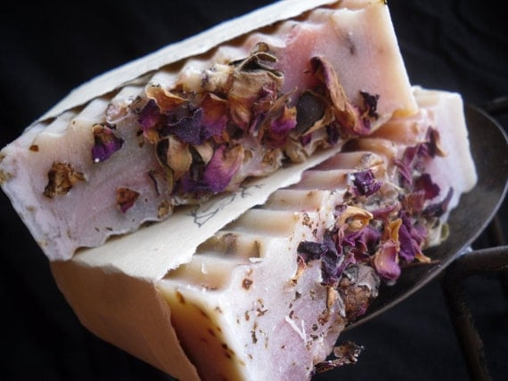 Rose Scented Goats Milk Soap with Shea Butter