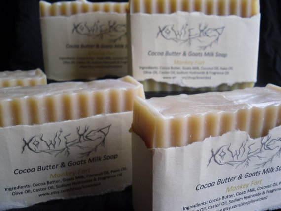 Monkey Fart Goats Milk Soap with Cocoa Butter