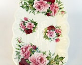 Southfields Bone China Rose Flower Sandwich Jewelery Anything Dresser Tray Made in England