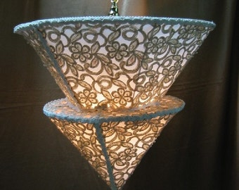 Classy Lady - Absolutely Elegant - One of Kind Custom Ceiling Hanging Lamp