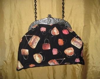 Ladies fun whimsical Purse,  One of A Kind Vintage Bag - 22387