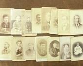 ON SALE... 15 beautiful carte de visites from the 19th century cdv photos