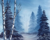 Winter Solstice, 16x20 oil painting on stretched canvas