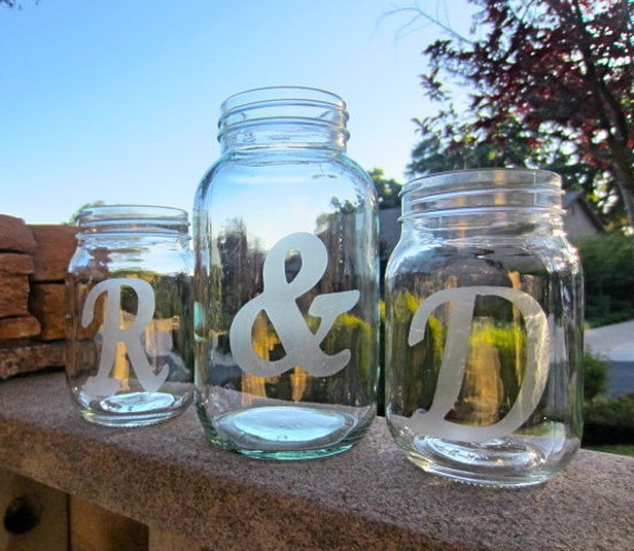 Mason Jars At Weddings: Mason Jars Wedding Sand Ceremony Personalized Jars