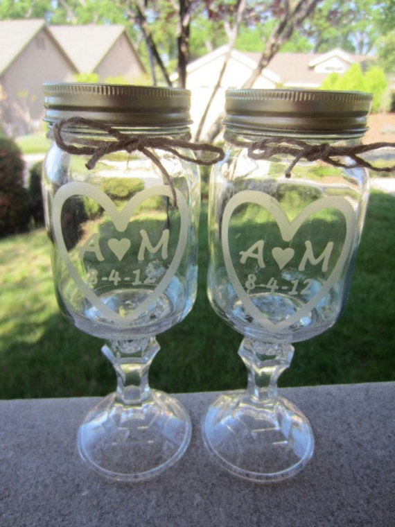 Redneck Wine Glass,  2 Personalized Etched Glass