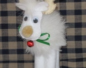 Adorable White Reindeer Ornament