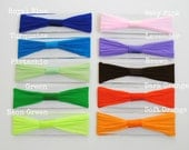 Set of FIVE - Interchangeable Nylon Baby Headbands - You PICK the COLORS - Choose from 21 colors