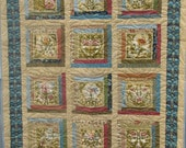 Reserved for Marilyn - Lap Quilt - Flora and Fauna