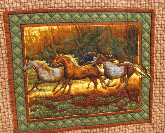Lap Quilt - All about Horses - Reserved for Pat