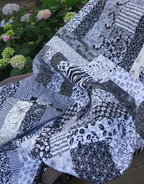 Black and White quilt - Reserved for Randy