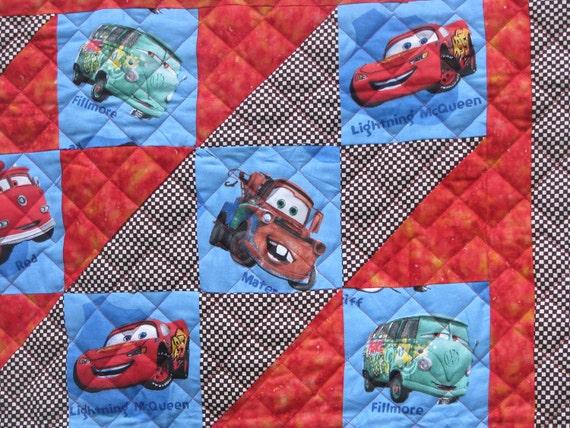 Modern Baby Boy Quilt - Cars