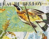 Yellow, Kiwi, and Gold Hand Quilted Tablerunner- Shabby Chic, Vintage, Bird, Autumn Colors, Autumn Decor, Farmhouse Decor, French Decor