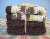 Dish Cloths, Knit and Crocheted, Woodsy Naturals