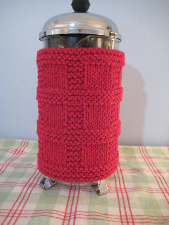 French Press Cozy, Rich Red