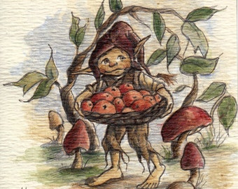 Berry Gatherer: On his way to market