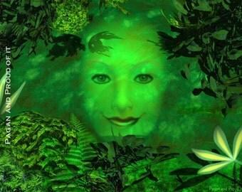 "Green Man  - 8"" x 10"" Art Print"