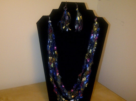 Free US Shipping: Colorful Necklace & Earrings Gift Set