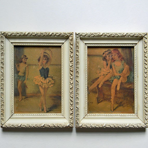1950 S Two Ballerina Girls Prints By Cydney Grossman In By