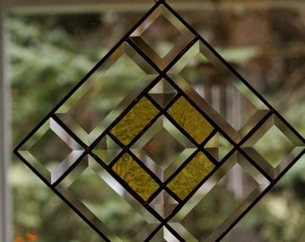 Stained Glass Gold Bevel Panel