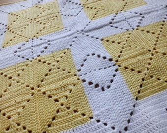Lemon Squash Baby Blanket - Instant Download PDF Crochet Pattern