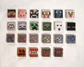 Handmade Minecraft Magnets - Set of 6