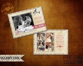 5x7 Vintage Valentine Template, First-Class Collection (1)
