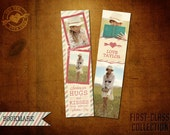 Vintage Valentine Bookmark Template - First-Class Collection