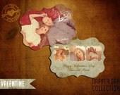 5x7 PSD Vintage Valentine Template, Dapper Dan Collection(I)