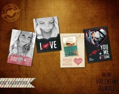Retro Mini-Valentine Photo Template Bundle