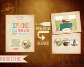 Vintage Spring Damask Marketing and Card Template for Photographers