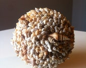 Beautiful shell accent ball  4inch SET OF 3