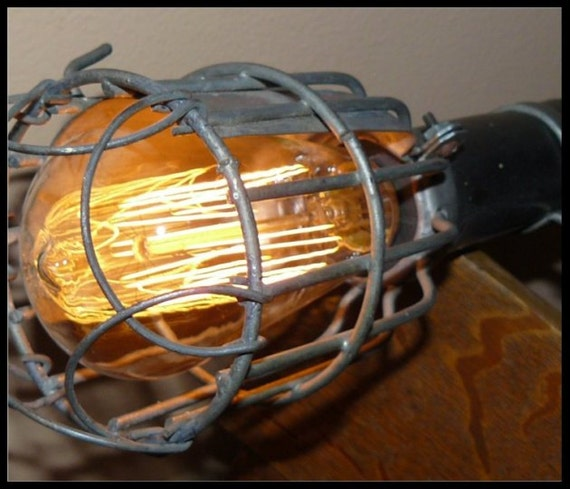 Vintage Industrial Shop Light: Industrial Shop Light Steampunk Vintage All By JunkerBailey