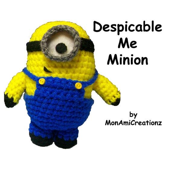 Amigurumi Doll Despicable Me Minion Inspired Crochet Doll